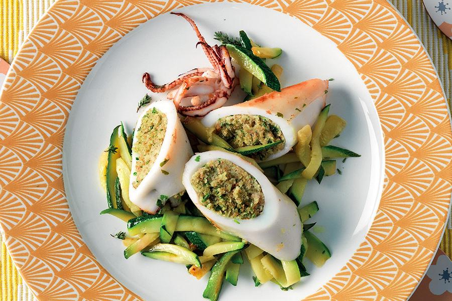 Ricetta Calamari ripieni di pane aromatico