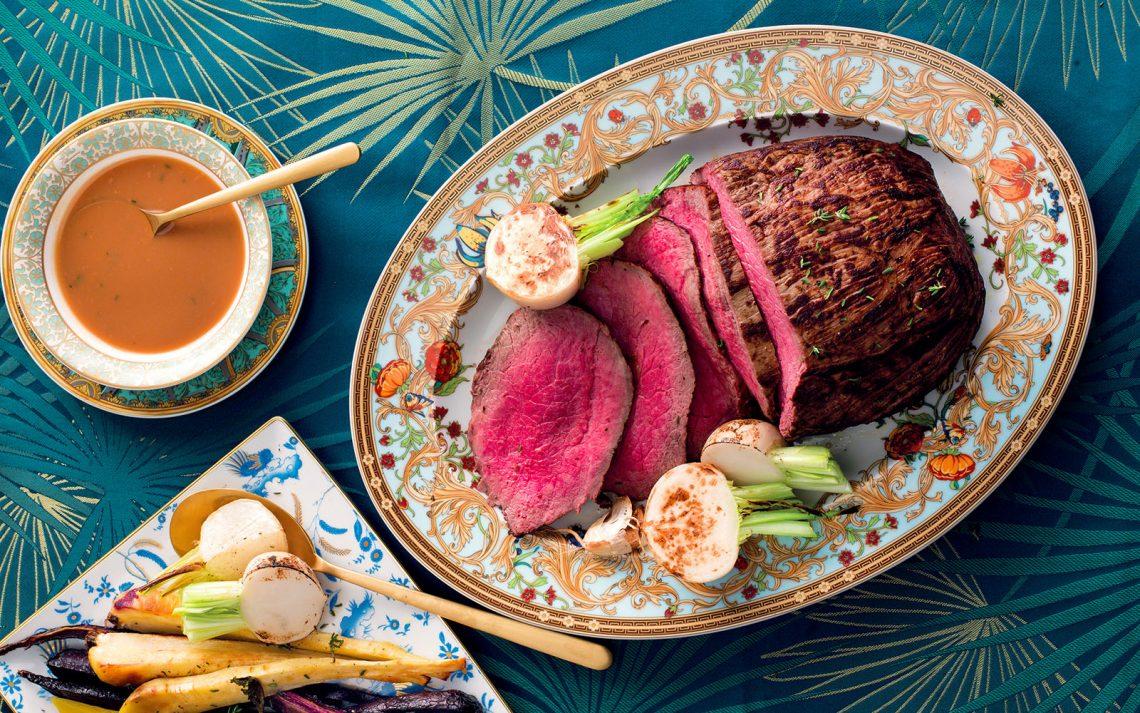 Ricetta Roast-beef di scamone e radici arrostite