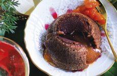 Ricetta Tortino al cioccolato, composta di papaya