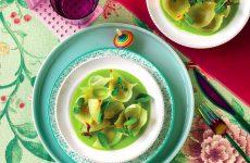 Ricetta Cipolle al forno, crema di zucchina e menta