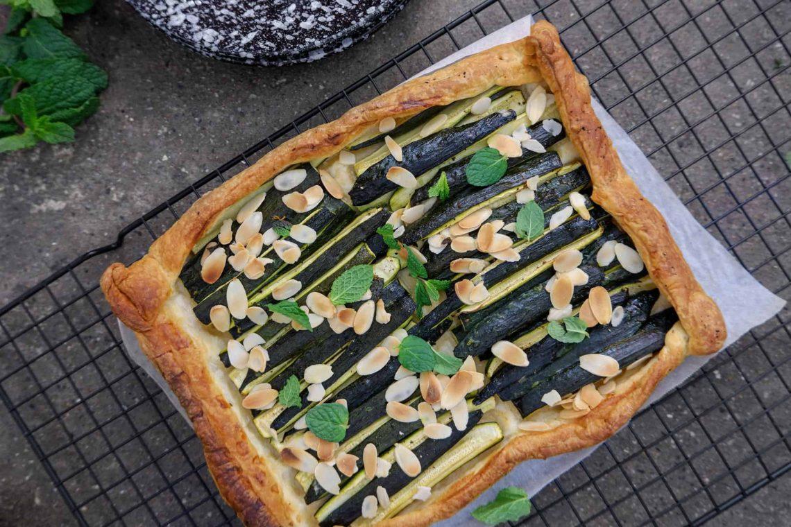 Sfoglia di zucchine, mandorle e menta