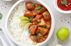 Patate al curry con pomodoro e ceci