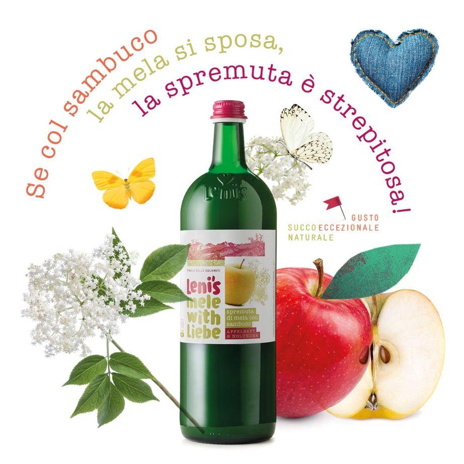 Spremuta di mela Leni's con sambuco: se col Sambuco la Mela si sposa, la Spremuta è deliziosa