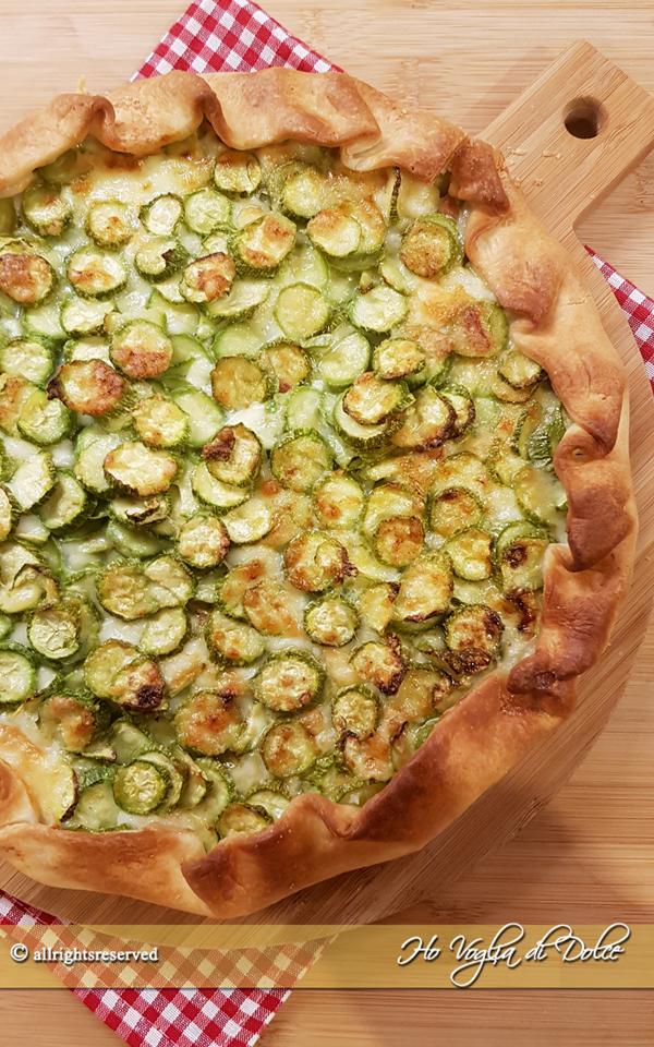 Torta salata di zucchine con pasta sfoglia ricetta